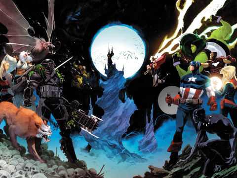 Avengers #14 (Scalera Wraparound Cover)