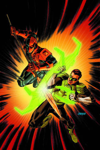 Deathstroke #10 (Green Lantern 75th Anniversary Cover)