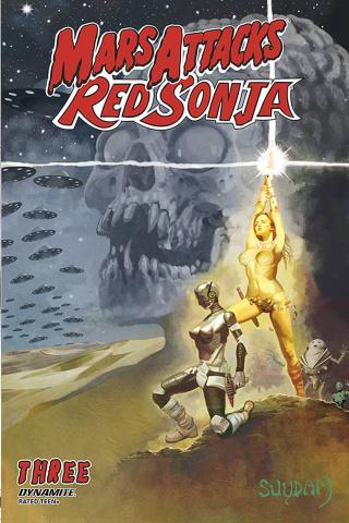 Mars Attacks / Red Sonja #3 (Suydam Cover)