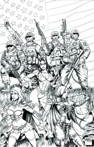 Grimm Fairy Tales: Wounded Warriors Special (Reyes Cover)