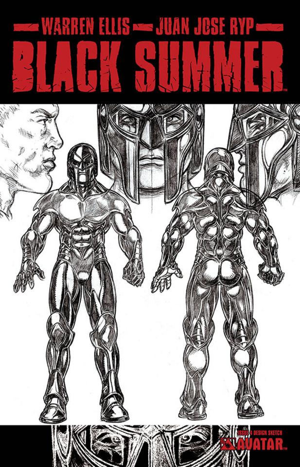 Black Summer #4 (Design Sketch Cover)