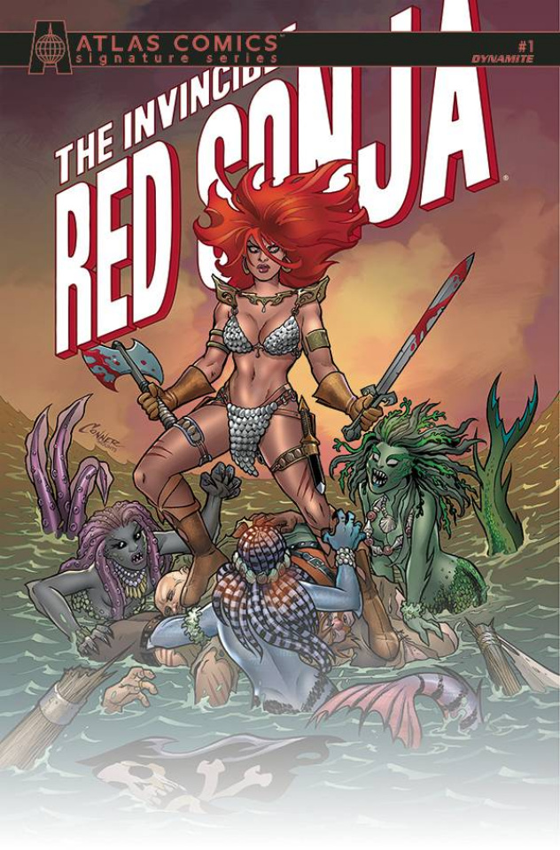 The Invincible Red Sonja #1 (Palmiotti & Conner Signed Atlas Edition)
