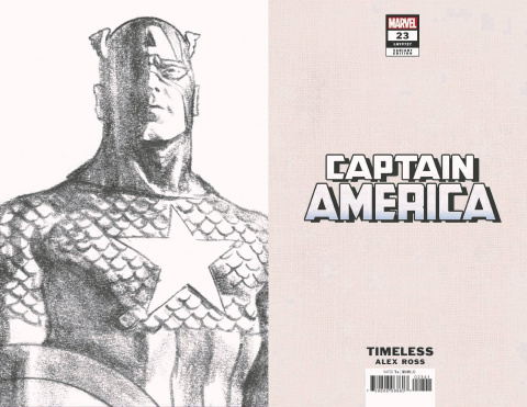 Captain America #23 (Alex Ross Timeless Virgin Sketch Cover)