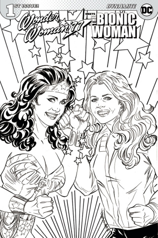 Wonder Woman '77 Meets The Bionic Woman #1 (Coloring Book Cover)