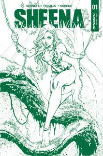 Sheena #1 (Campbell Jungle Green Premium Edition)