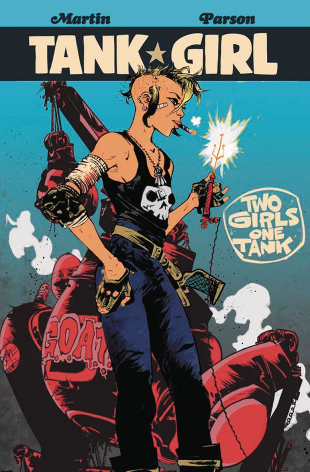 Tank Girl: Two Girls, One Tank #3 (Pope Cover)