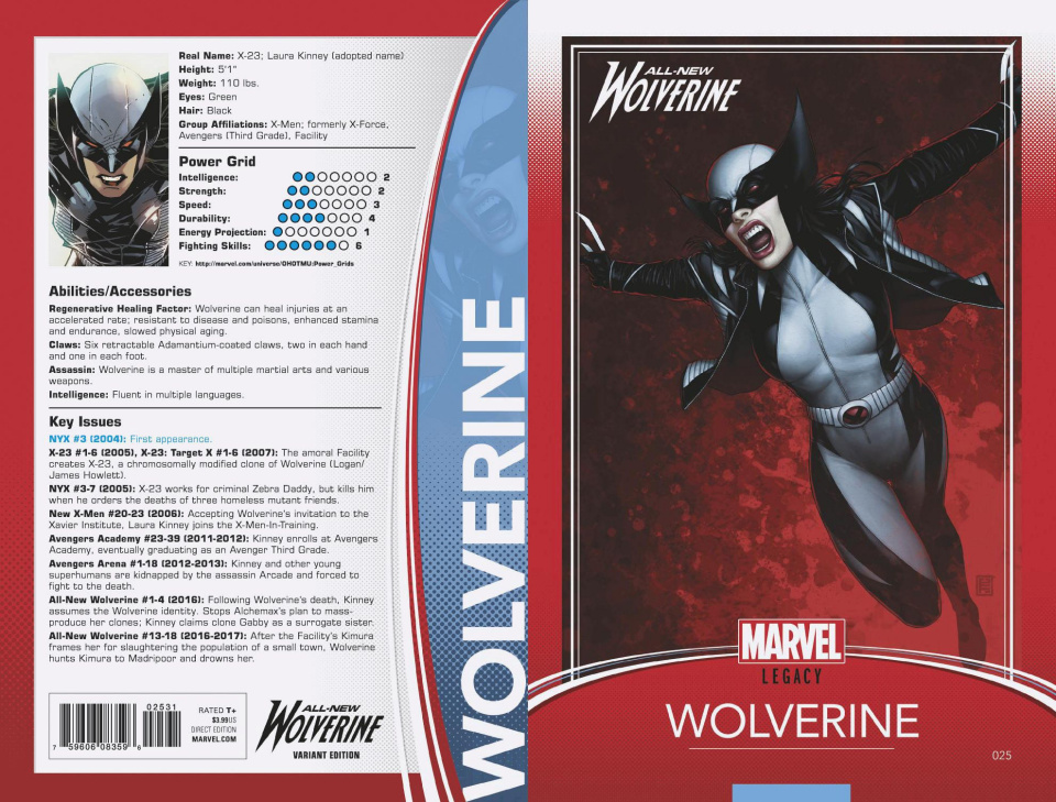 All-New Wolverine #25 (Christopher Trading Card Var Cover)