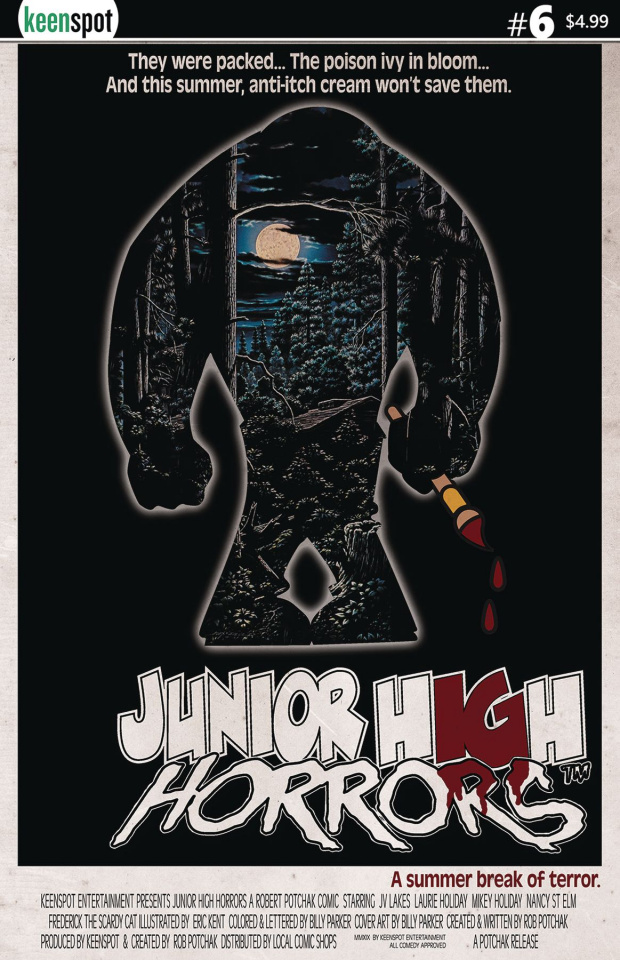 Junior High Horrors #6 (Friday the 13th Parody Cover)