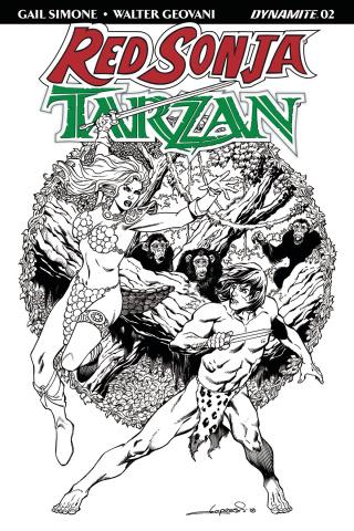 Red Sonja / Tarzan #2 (30 Copy Lopresti B&W Cover)