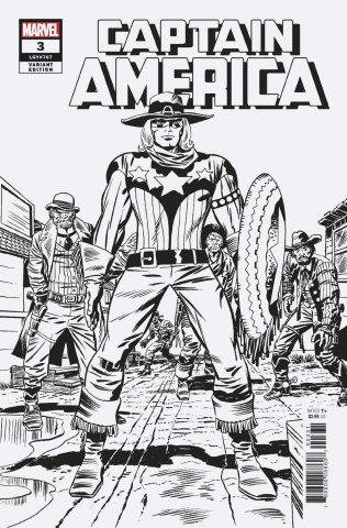 Captain America #3 (Kirby Remastered B&W Cover)