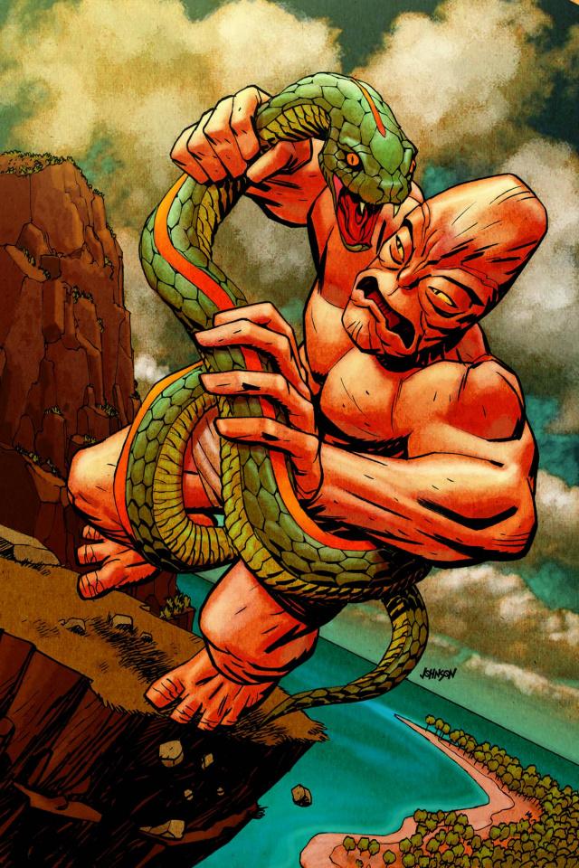 House of M #4 (Johnson Kirby Monster Cover)