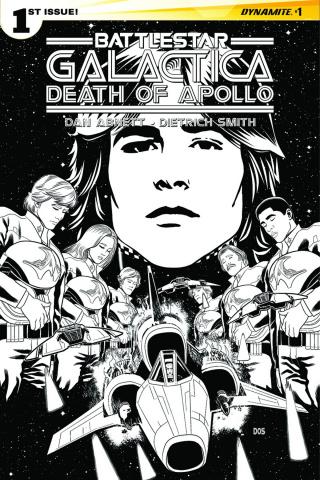 Battlestar Galactica: Death of Apollo #1 (10 Copy Smith B&W Cover)