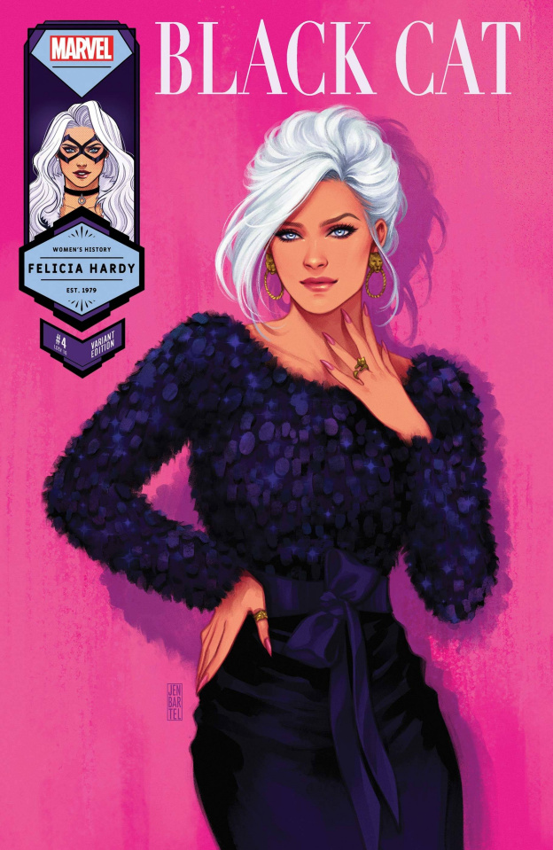 Black Cat #4 (Bartel Black Cat Womens History Month Cover)