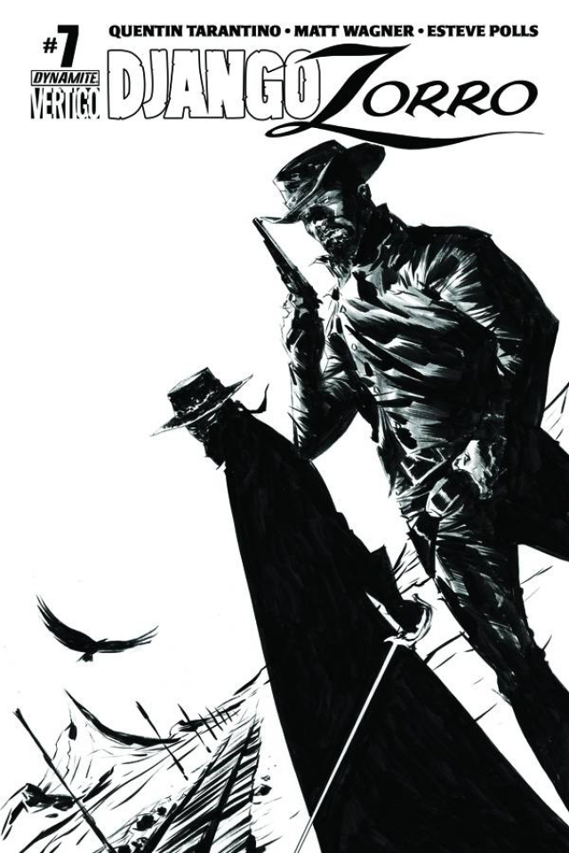 Django / Zorro #7 (25 Copy Lee B&W Cover)