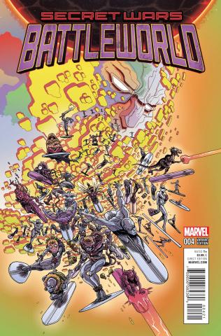 Secret Wars: Battleworld #4 (Stokoe Cover)