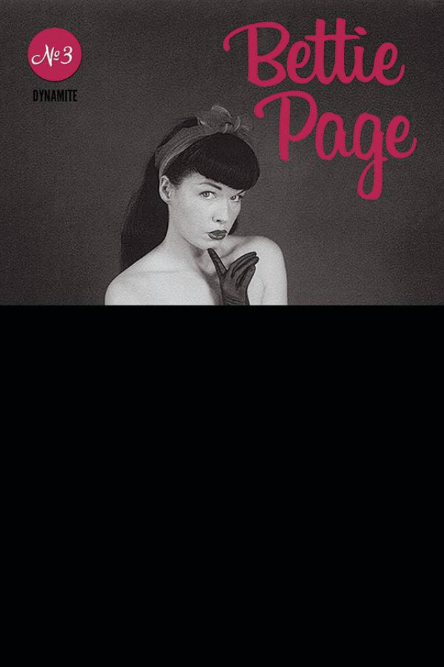 Bettie Page #3 (Black Bag Photo Cover)