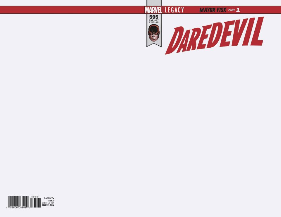 Daredevil #595 (Blank Cover)