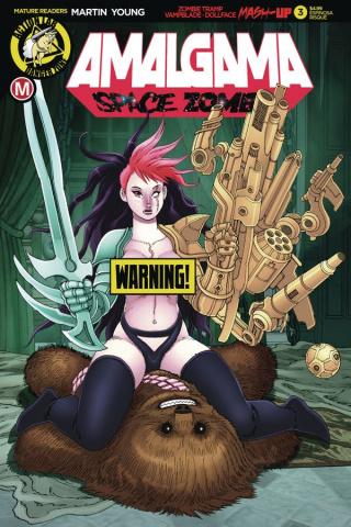 Amalgama: Space Zombie #3 (Espinosa Risque Cover)