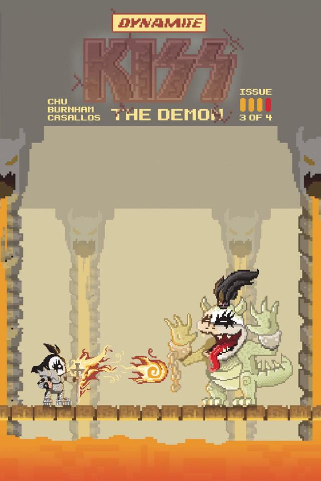 KISS: The Demon #3 (Adams 8-Bit Cover)