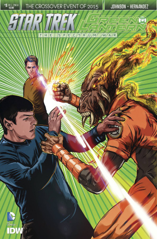 Star Trek / Green Lantern #3 (Shasteen Cover)