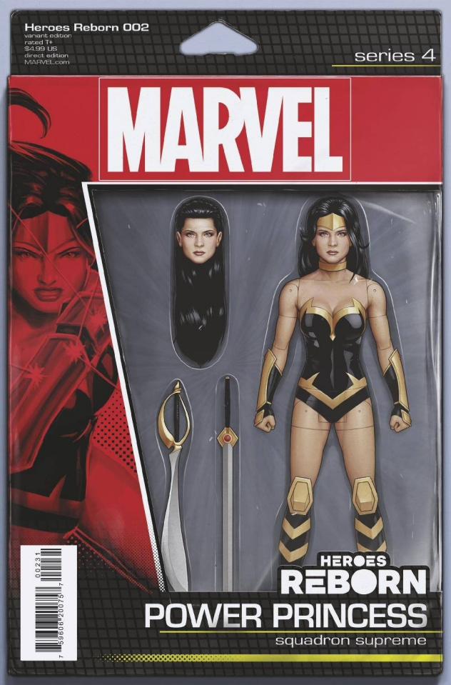 Heroes Reborn #2 (Christopher Action Figure Cover)