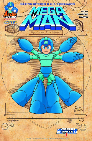 Mega Man #49 (Jason Piperberg Renaissance Man Cover)