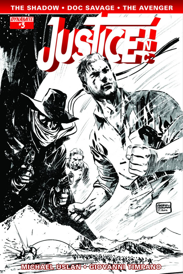 Justice, Inc. #3 (10 Copy Hardman B&W Cover)