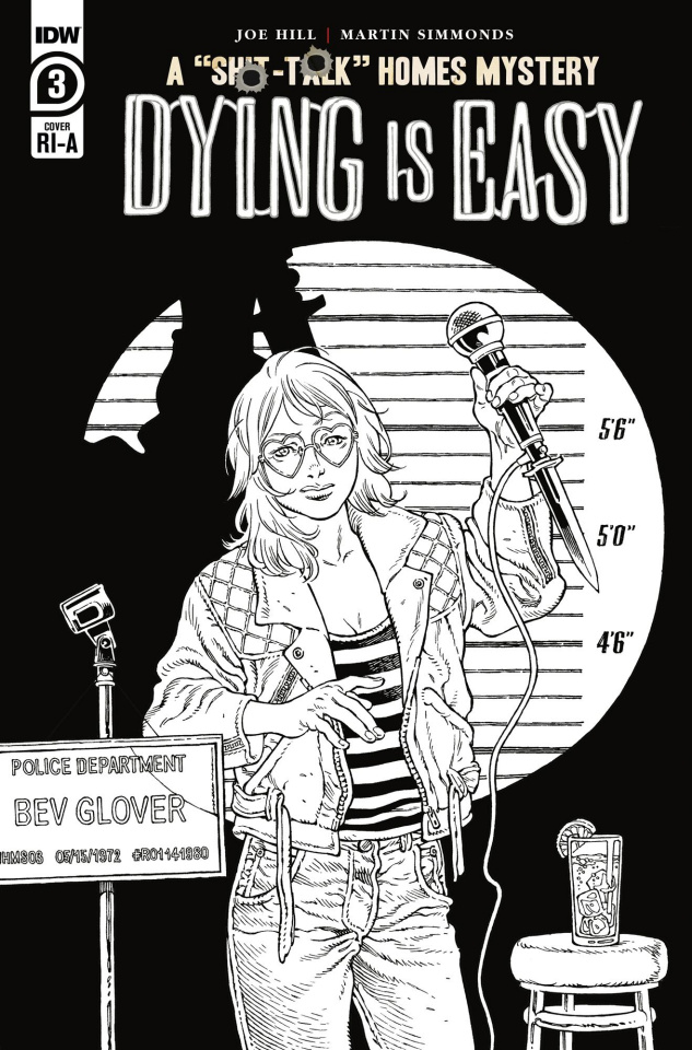 Dying Is Easy #3 (10 Copy B&W Rodriguez Cover)