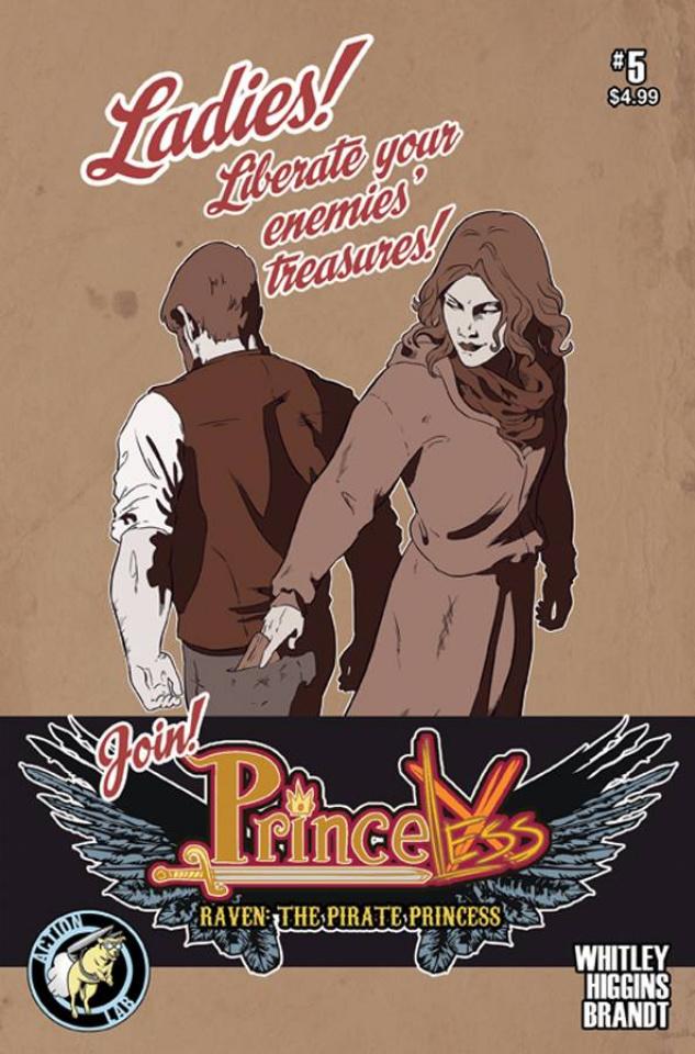 Princeless: Raven, The Pirate Princess #5 (Higgins & Brandt Cover)