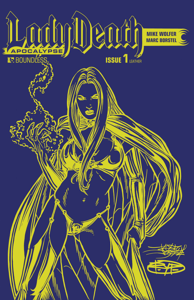 Lady Death: Apocalypse #1 (Azure Leather Cover)