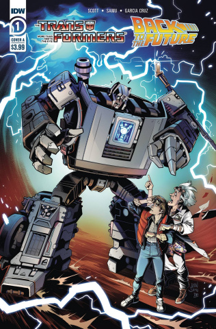 The Transformers / Back to the Future #1 (Juan Samu Cover)