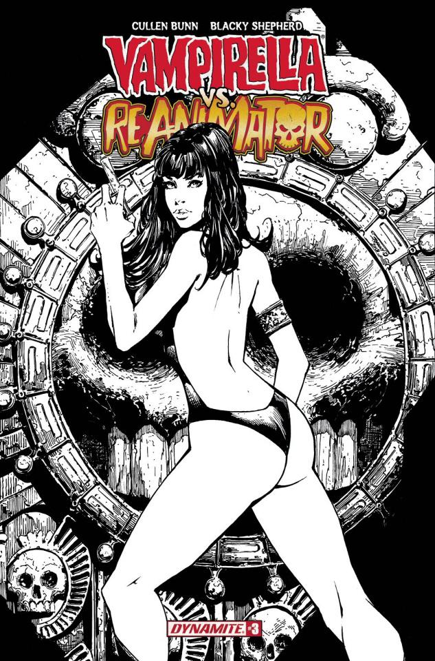 Vampirella vs. Reanimator #3 (20 Copy Desjardins B&W Cover)