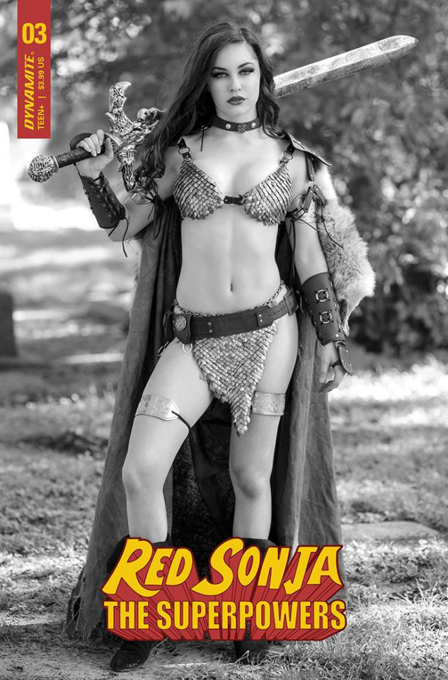 Red Sonja: The Superpowers #3 (Cosplay B&W Premium Cover)