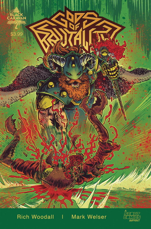 Gods of Brutality #2 (10 Copy Woodall Unlocked Cover)