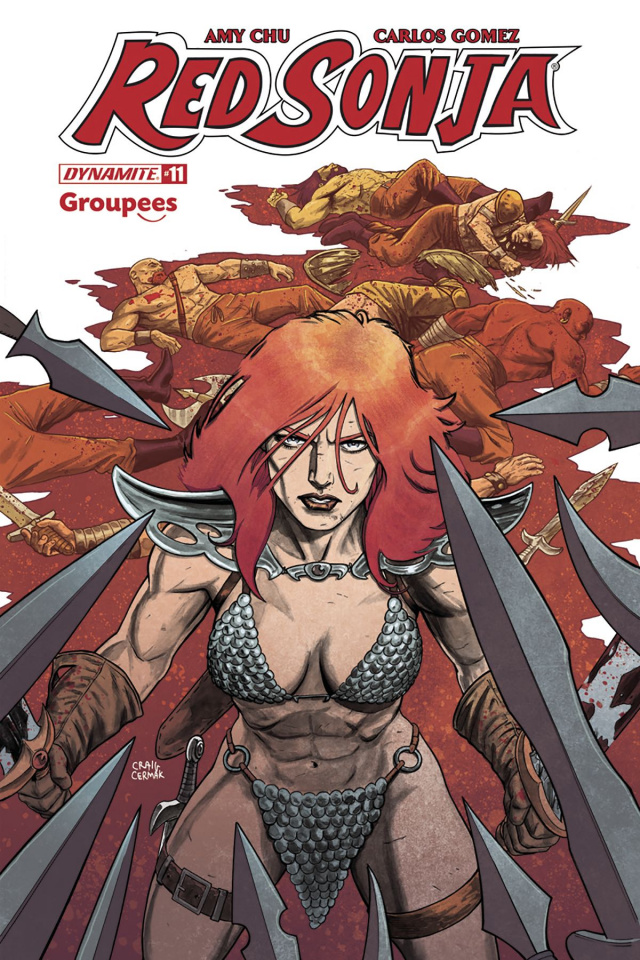 Red Sonja #11 (Groupees Cover)