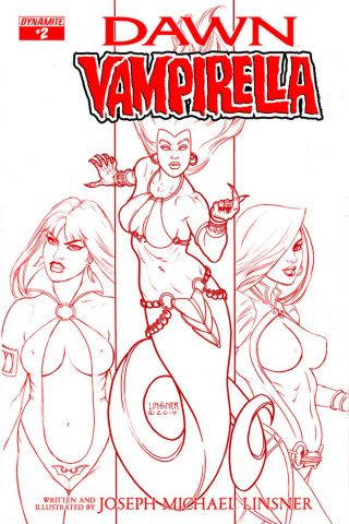 Dawn / Vampirella #2 (25 Copy Linsner Blood Cover)