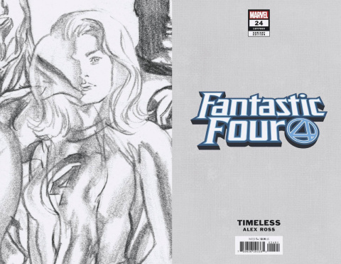Fantastic Four #24 (Invisible Woman Timeless Virgin Sketch Cover)