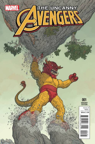 Uncanny Avengers #1 (Darrow Kirby Monster Cover)