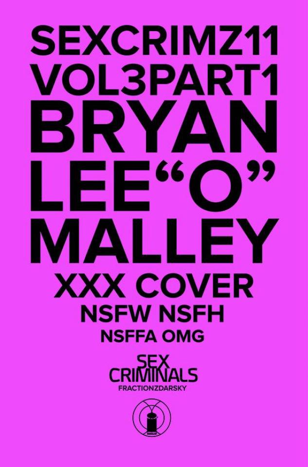 Sex Criminals #11 (Bryan Lee O'Malley XXX Cover)