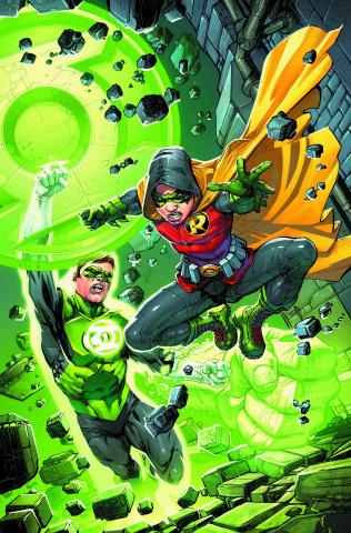 Robin: Son of Batman #4 (Green Lantern 75th Anniversary Cover)