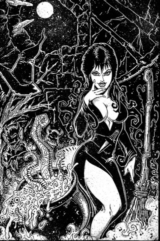 Elvira: Mistress of the Dark #9 (21 Copy Eastman B&W Virgin Cover)