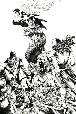 Red Sonja: The Superpowers #1 (30 Copy Lau B&W Virgin Cover)