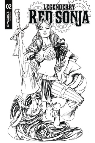 Legenderry: Red Sonja #2 (10 Copy Benitez B&W Cover)
