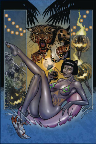 Tarot: Witch of the Black Rose #124 (Alt Paths Boo Cat Cover)