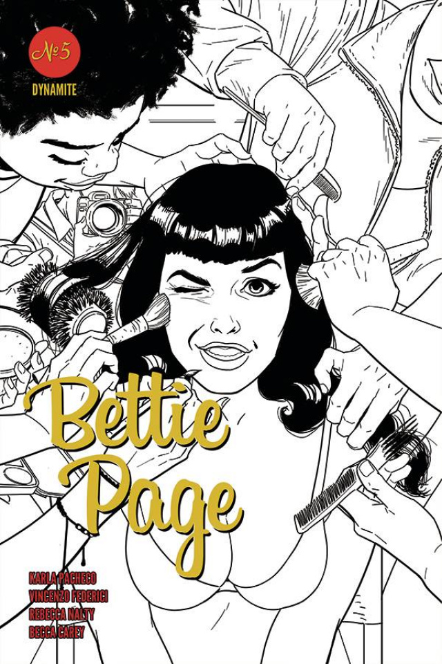 Bettie Page #5 (10 Copy Kano B&W Cover)