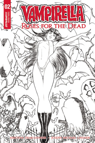 Vampirella: Roses for the Dead #2 (10 Copy Tucci B&W Cover)