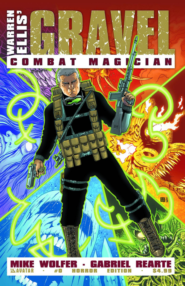 Gravel: Combat Magician #0 (Horror Cover)