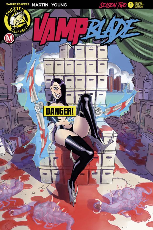 Vampblade, Season Two #1 (Winston Young Risque Cover)