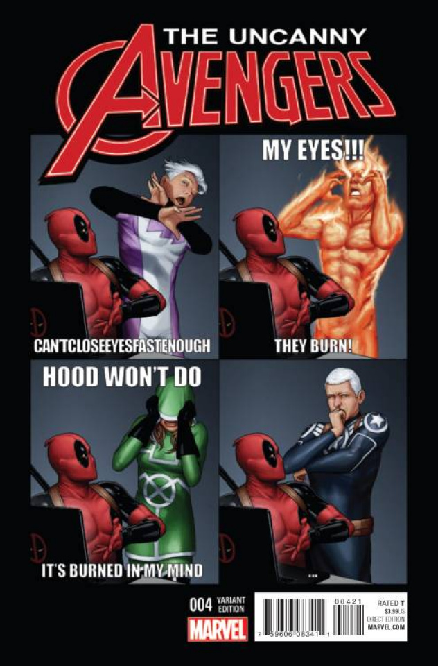 Uncanny Avengers #4 (Deadpool Cover)