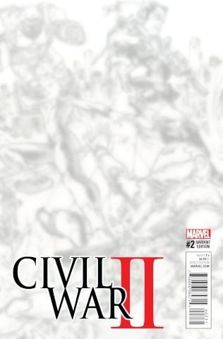 Civil War II #2 (B&W Virgin Connecting Cover)